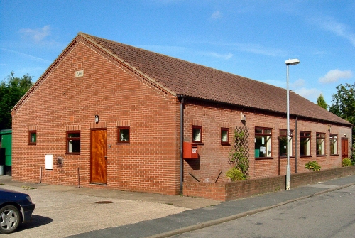 A view of the Village Hall